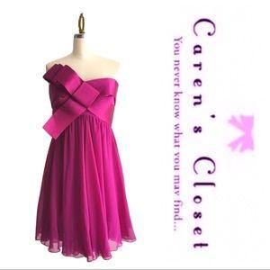 Marchesa Notte Strapless Silk Formal Dress